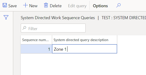 Enter the System directed query description
