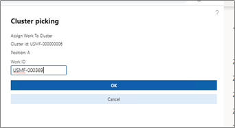"""Enter the work ID for the first position – """"A"""" – screenshot"""